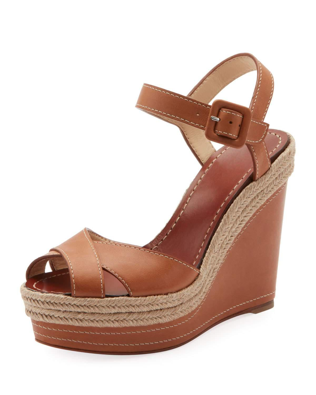 3c89a2c511ae Christian Louboutin Almeria 120 Espadrille Platform Wedge Sandals In  Version Light Gold