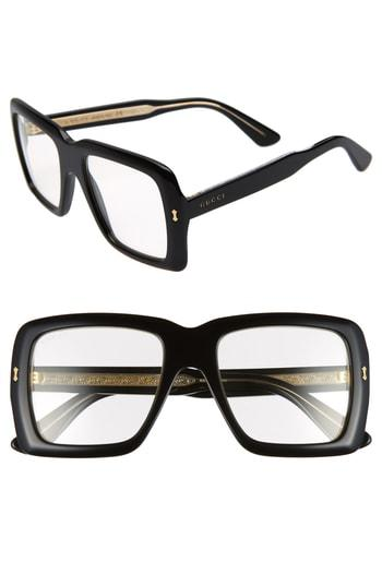 bbeb1a478a0 Gucci Unisex Bold Acetate Sunglasses With Ar Coating In Black Crystal