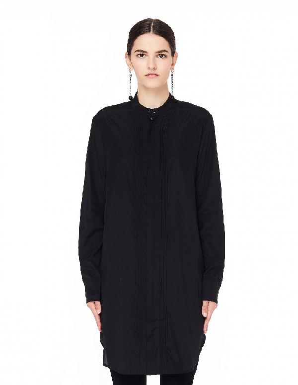 A.F.Vandevorst Decoration Black Silk Shirt