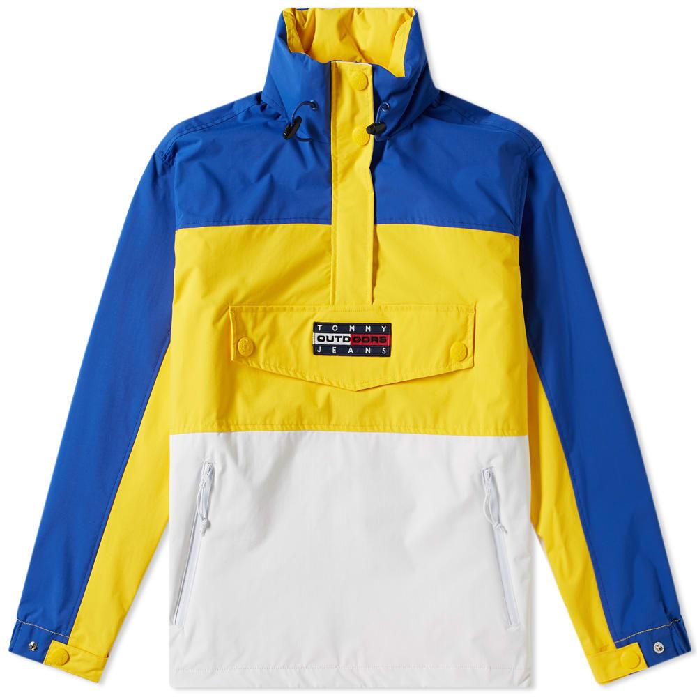 Tommy Jeans 6.0 Women's Colour Block Popover Jacket W6 In Yellow