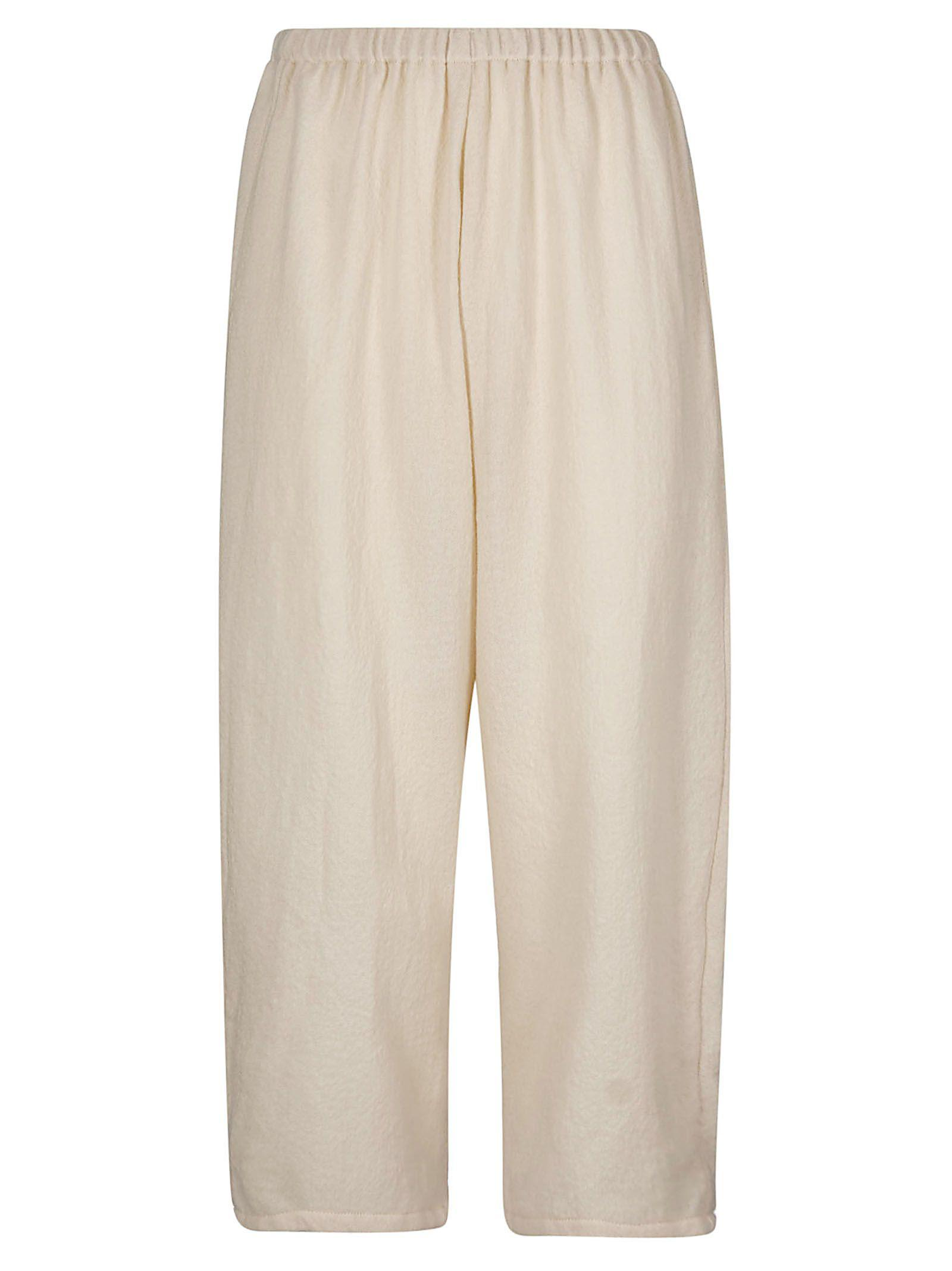 A Punto B Elasticated Cropped Trousers In Butter