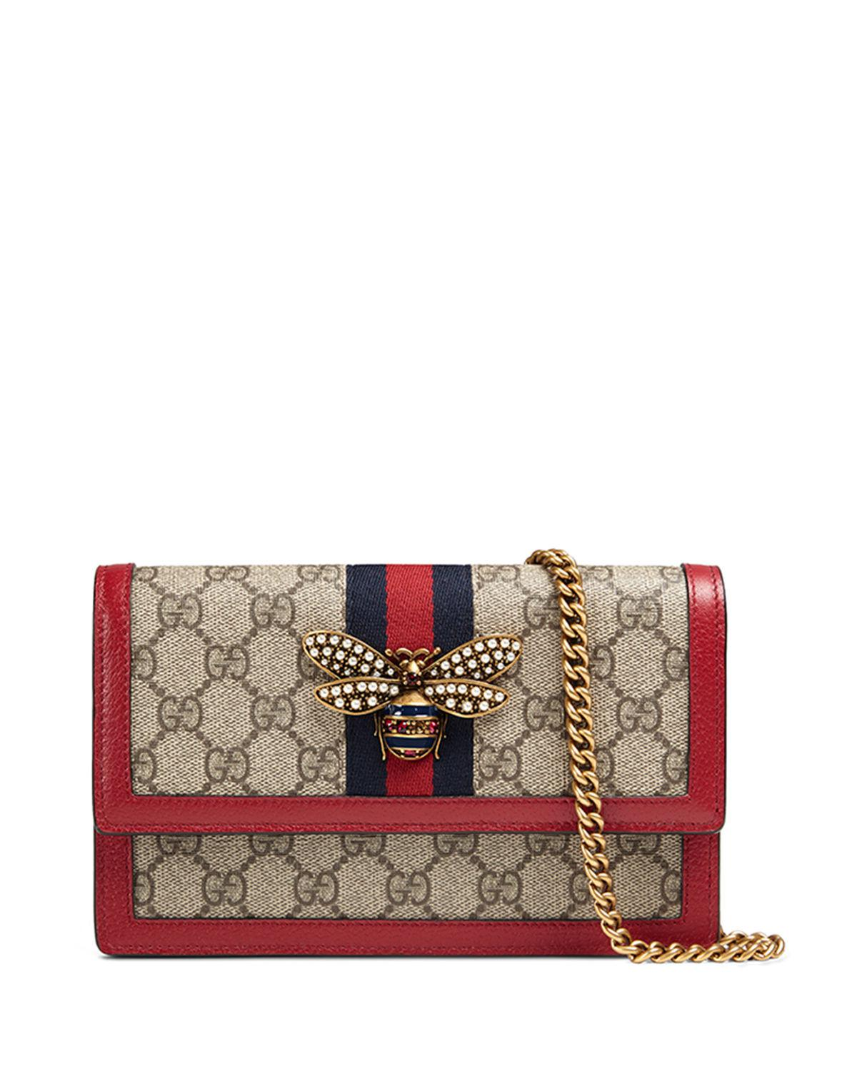 6af44dbcb16a Gucci Queen Margaret Gg Supreme Wallet On Chain In Neutrals | ModeSens