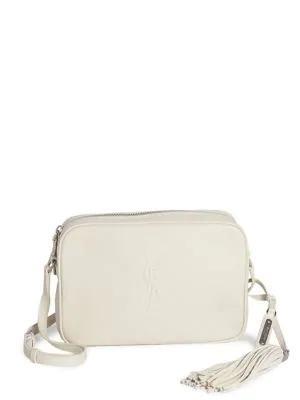 34729b625d2 Saint Laurent Medium Lou Monogram Leather Camera Bag In 9207 White ...