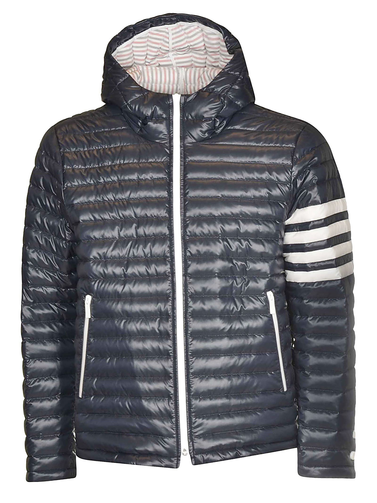 2f0777a743 Thom Browne Striped Quilted Shell Hooded Down Jacket In Blue | ModeSens