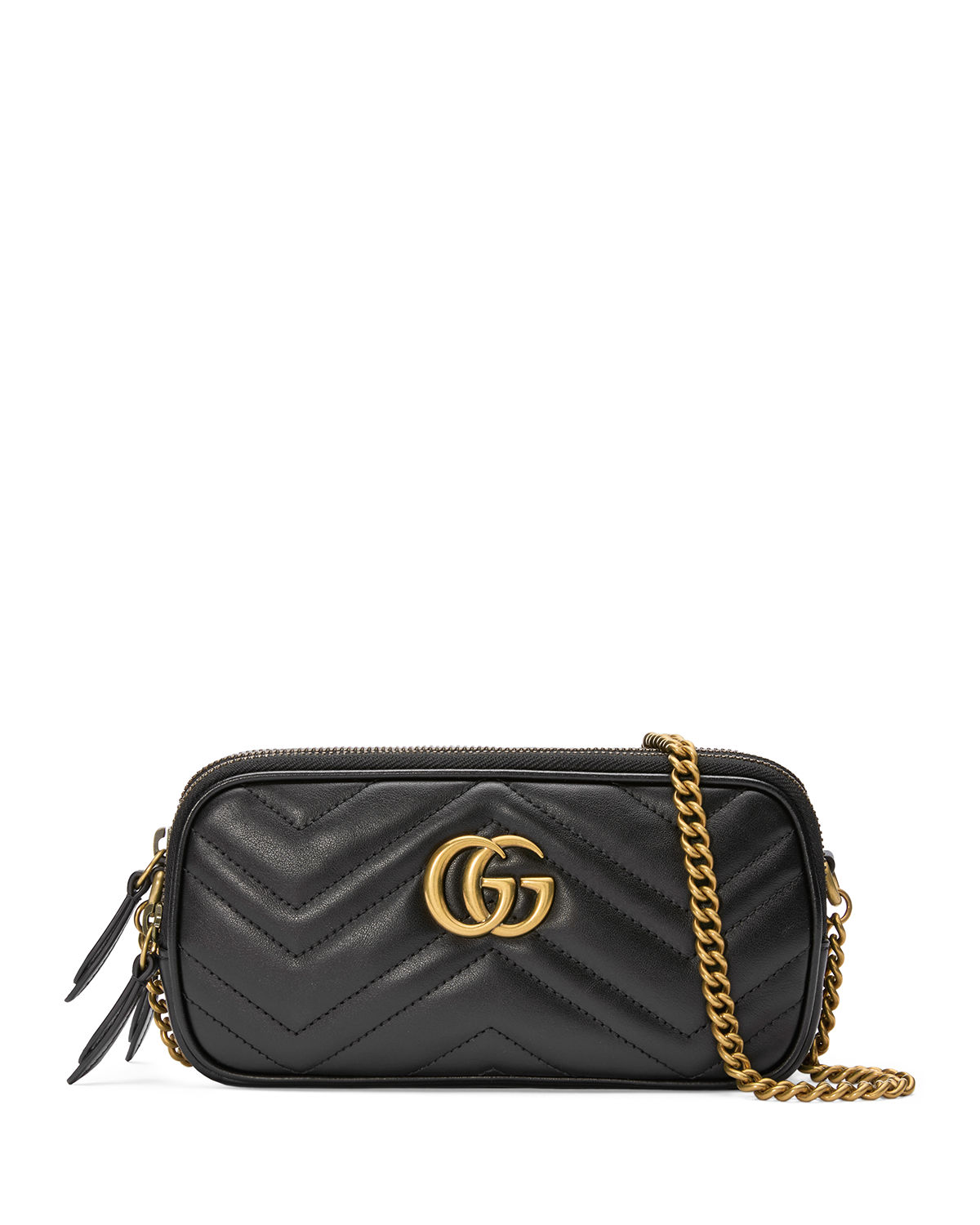 7952da16745c Gucci Gg Marmont Mini Quilted Leather Shoulder Bag In Black Leather ...