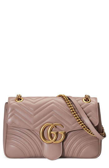 Gucci Gg Marmont Medium MatelassÉ Shoulder Bag In Pink