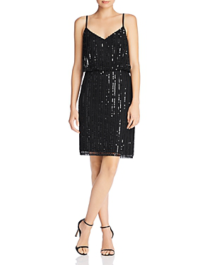 580d00f38b80 French Connection Aster Sleeveless Sequined Dress In Black | ModeSens