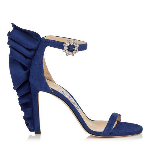 f7273262602 Shop Jimmy Choo Karalie 100 Pop Blue Suede Sandal