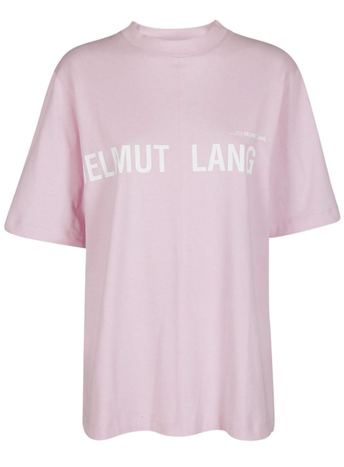 Helmut Lang Logo Print T-shirt In Perfect Pink