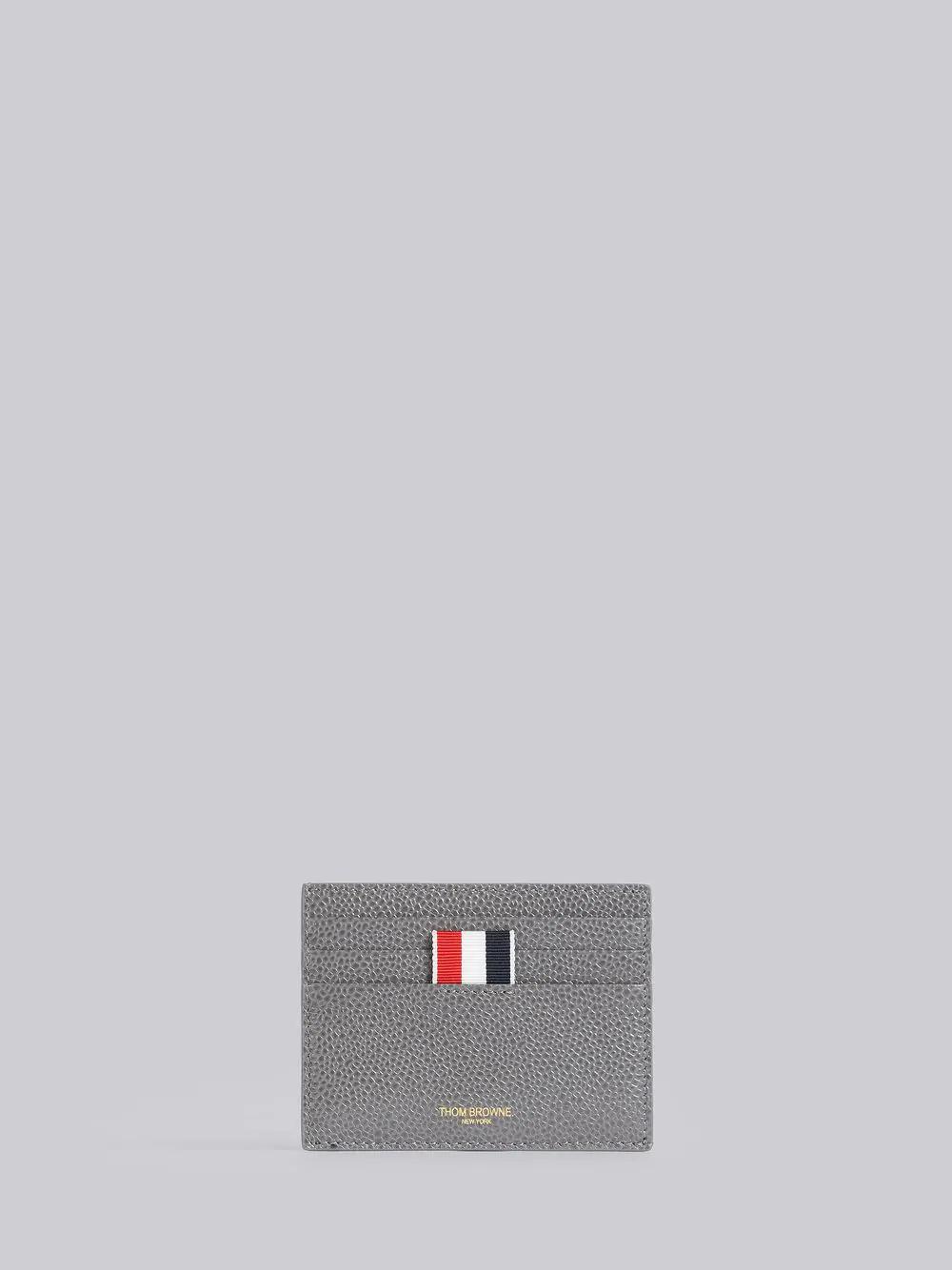 Thom Browne Bicolor Note Cardholder In Grey