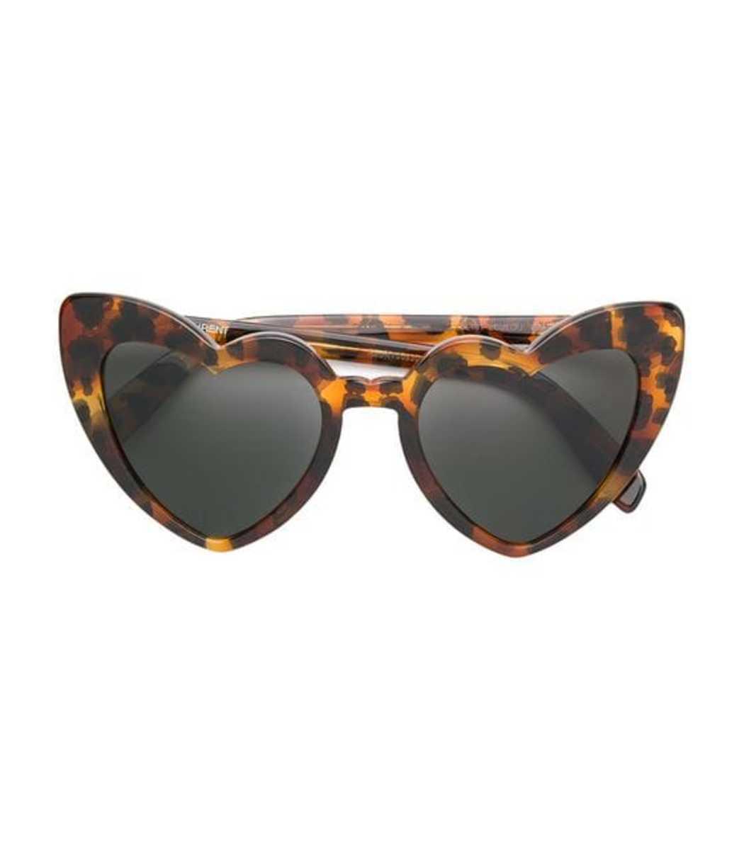 b346a0a934e Saint Laurent Lou Lou Oversized Heart Sunglasses In Brown