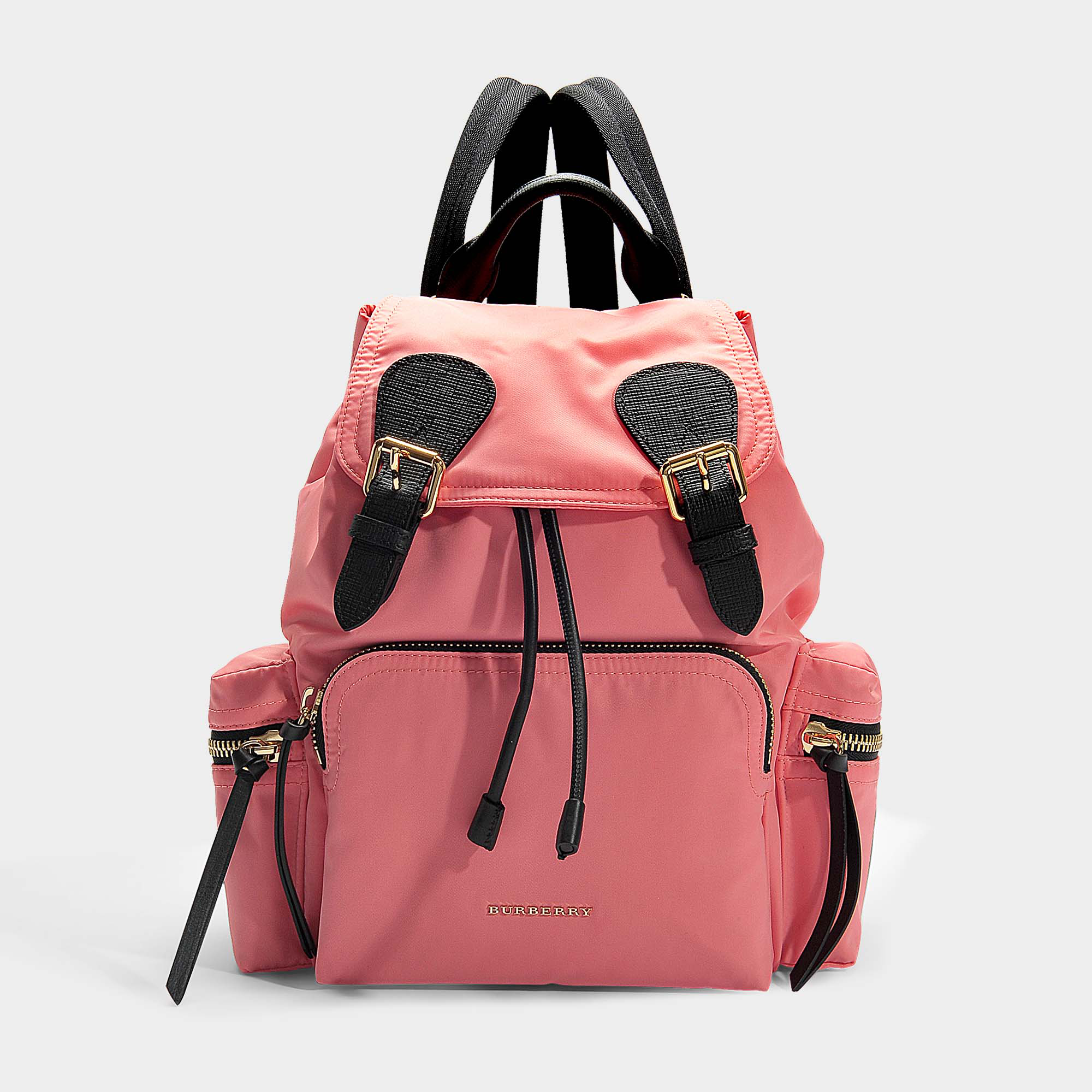 3ac38770f360 Burberry The Medium Rucksack In Technical Nylon And Leather In Pink ...