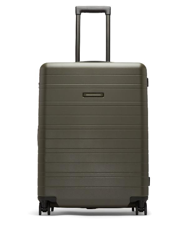 Horizn Studios H6 Smart Medium Hardshell Check-in Suitcase In Dark Green