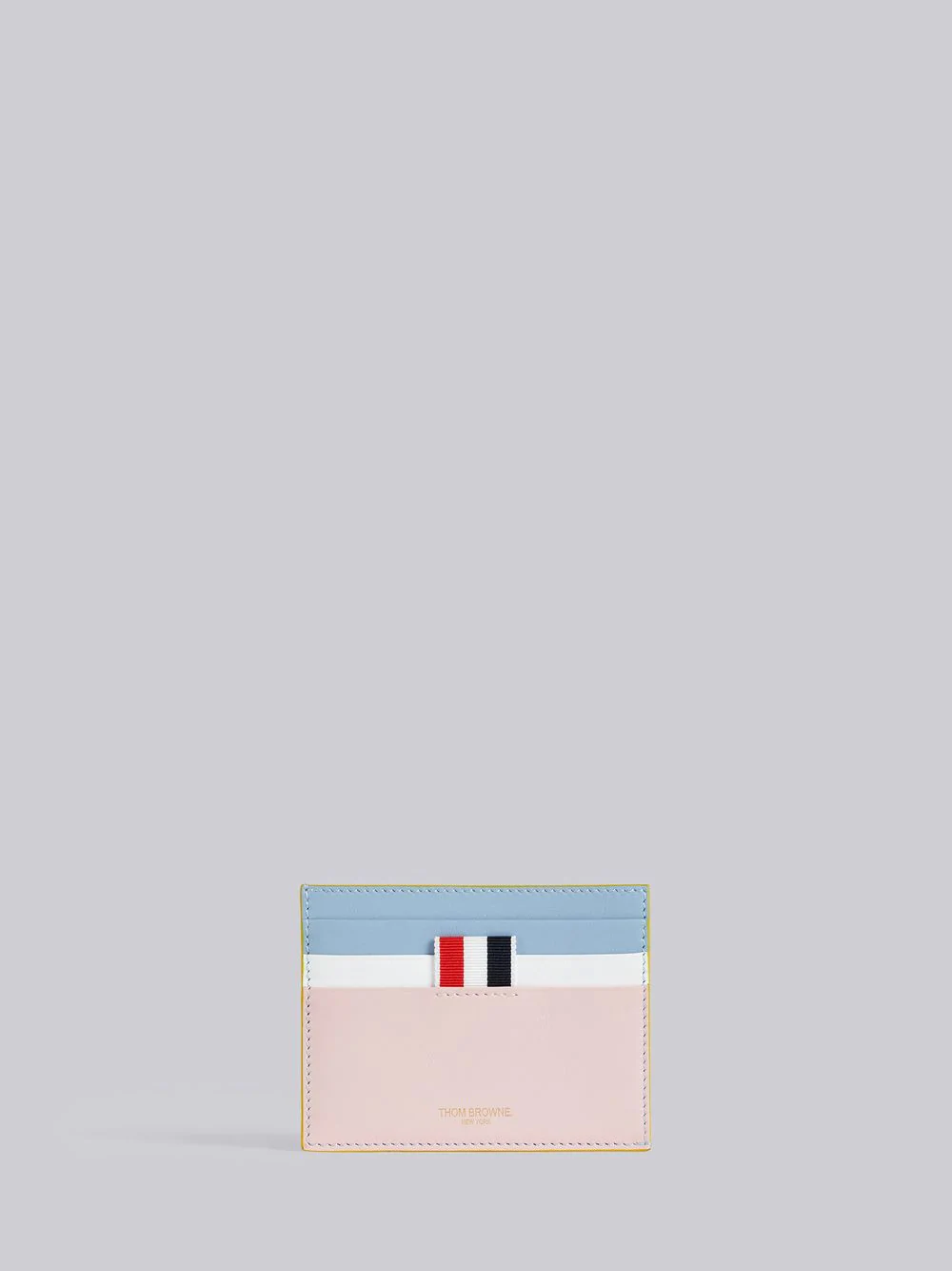 Thom Browne Stained Calfskin Note Cardholder - Pink