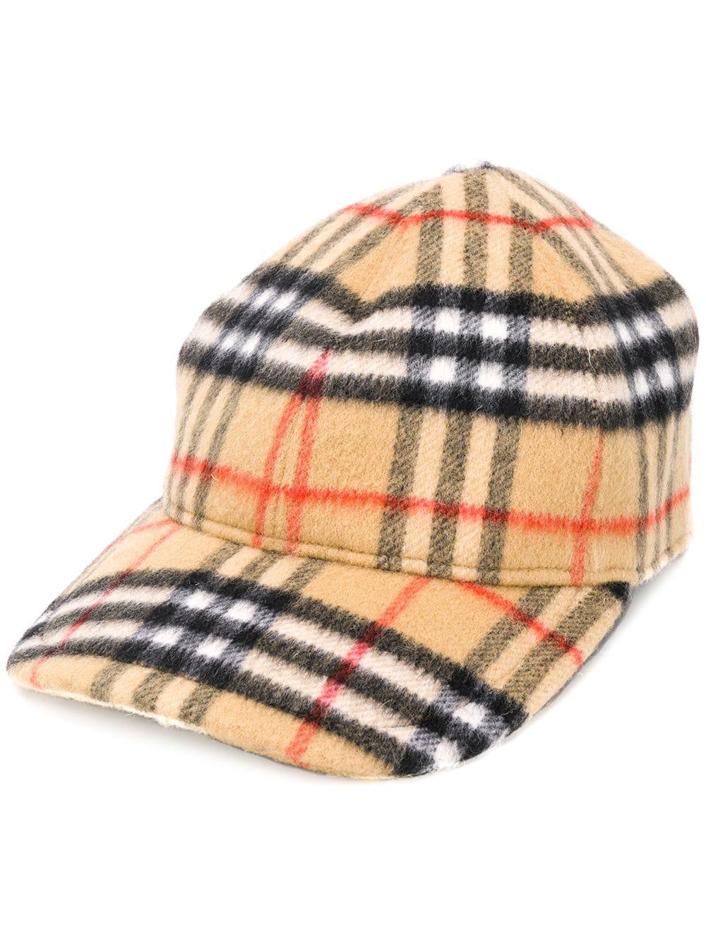 Burberry Checked Cotton-Canvas Baseball Cap In Camel  e7f2123c9b