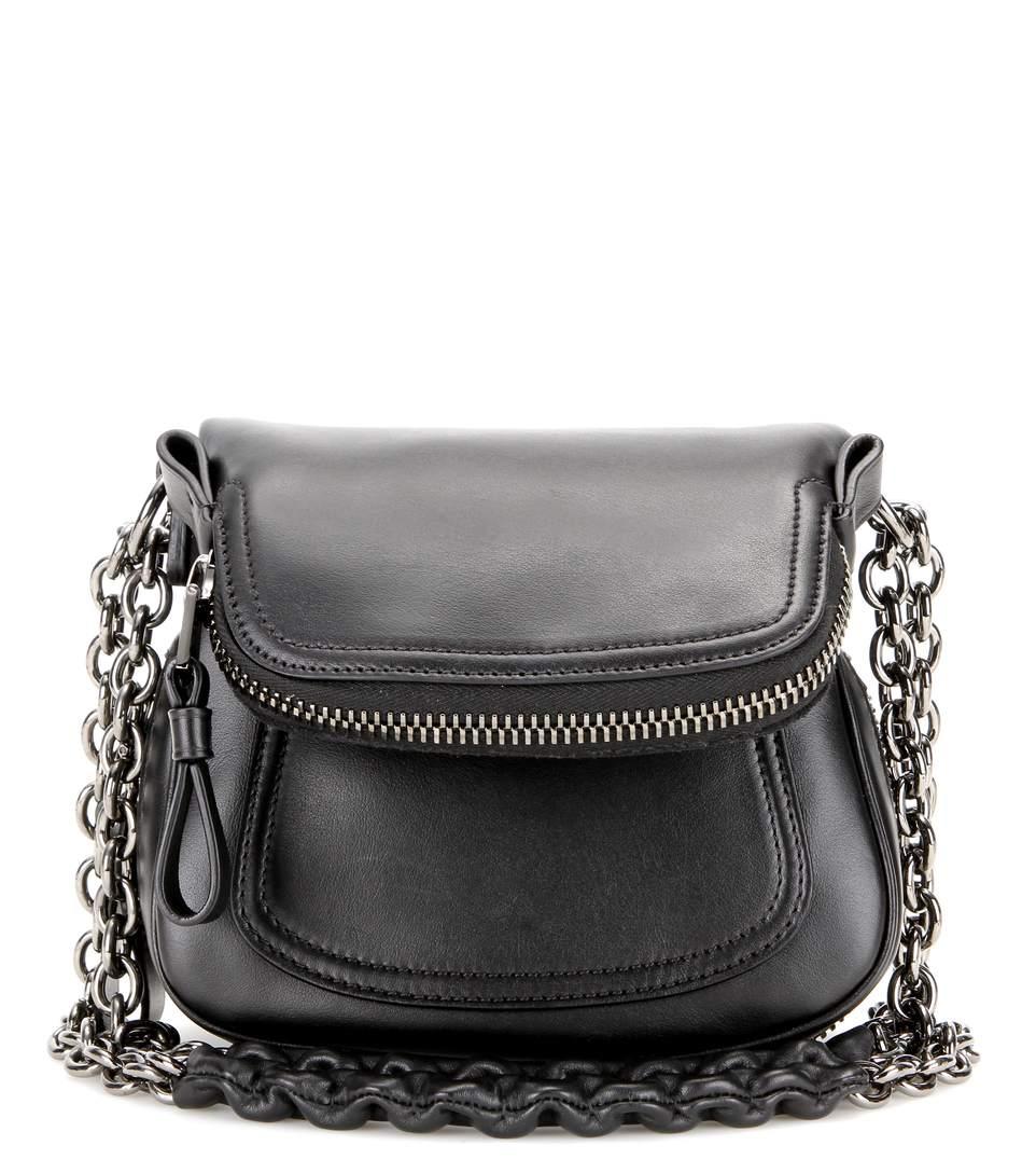 Tom Ford Jennifer Mini Leather Shoulder Bag In Black
