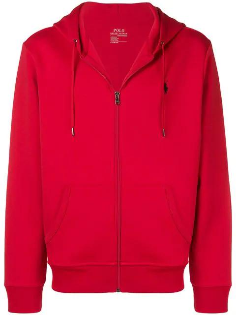 Polo Ralph Lauren Men's Big & Tall Double-knit Full-zip Hoodie In 031 Red