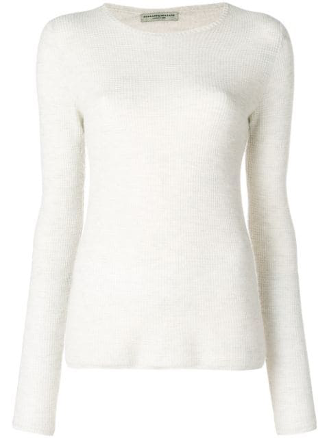 Holland & Holland Long-sleeve Fitted Sweater In White