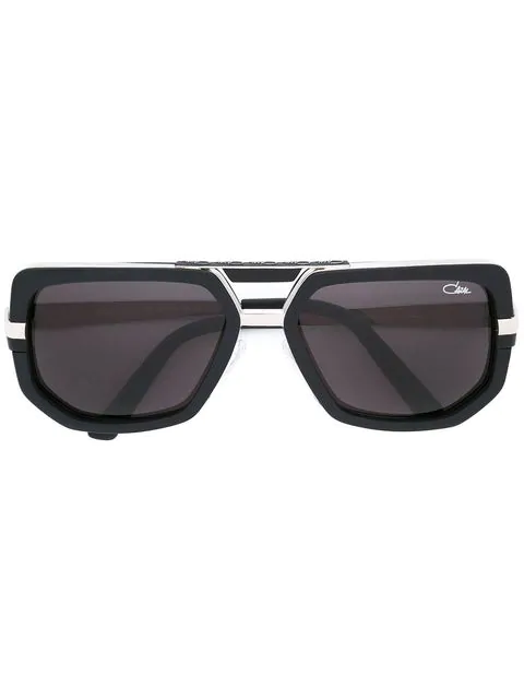 Cazal Geometric Frame Sunglasses In Black