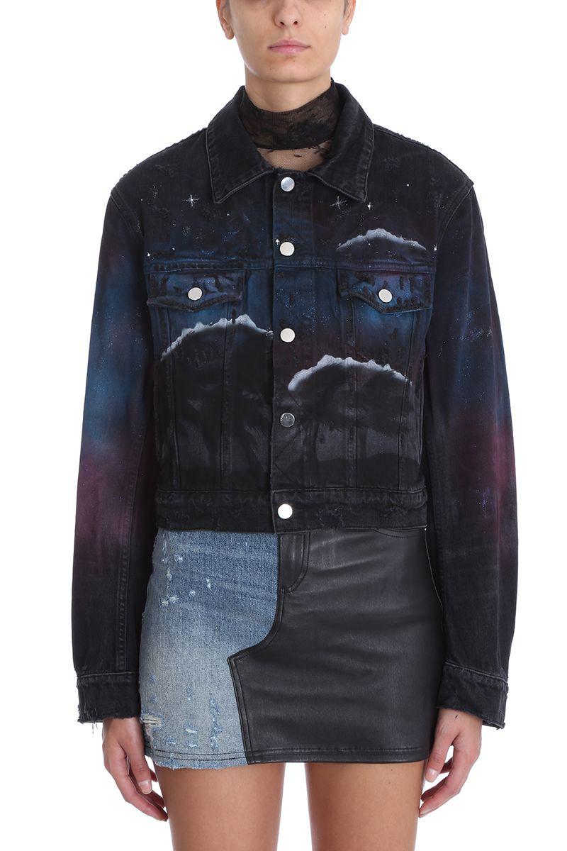 7bc4266c13 Amiri Printed Distressed Denim Jacket In Black