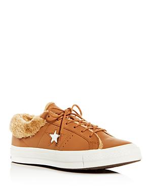 695f4ac5805 Converse One Star Street Warmer Faux Fur Lined Low Top Sneaker In Burnt  Caramel