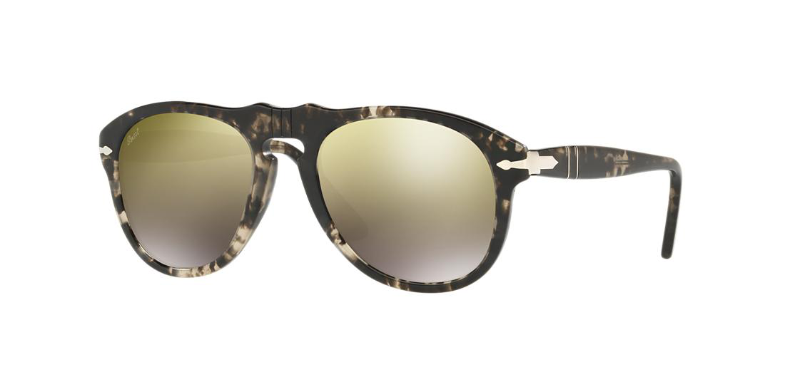 d172f825fe948 Persol 649-Series Mirrored Aviator Sunglasses In Tortoise Frames Gold Lenses