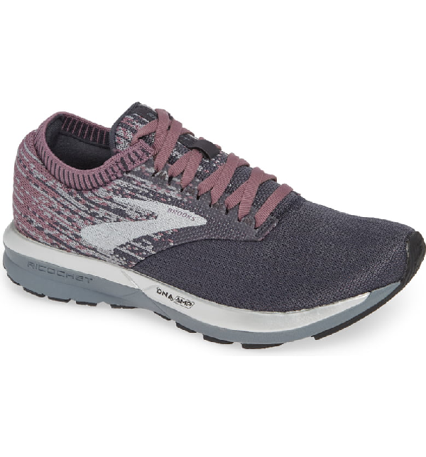 Brooks Ricochet Running Shoe In Grey