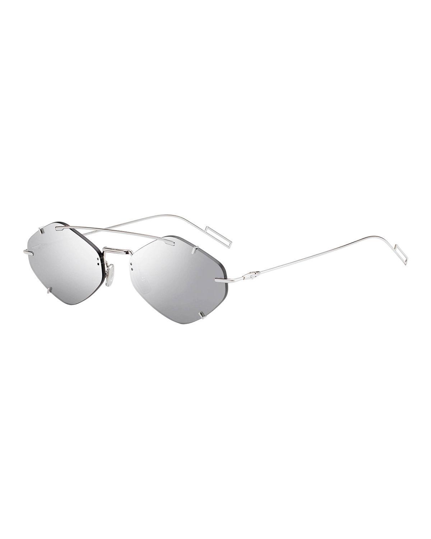 81273c1d7d85 Dior Men s Inclusion Rimless Mirrored Sunglasses In Gray