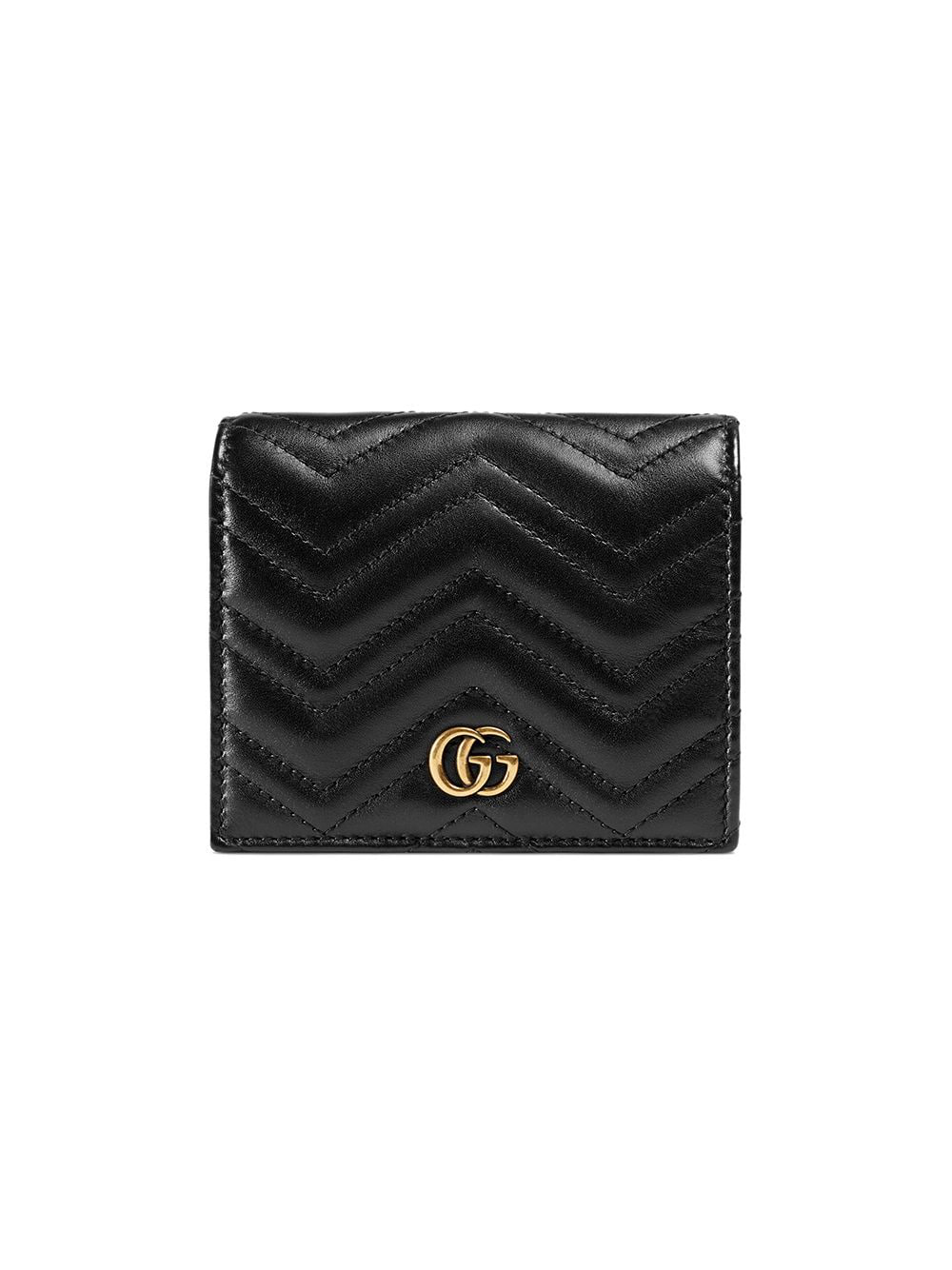 6610b336f1ac6e Gucci Gg Marmont Small Quilted Leather Wallet In Black | ModeSens