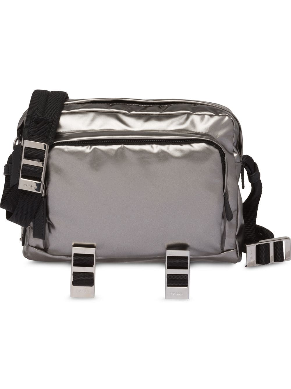 3c5a6df5962a Prada Technical Fabric Messenger Bag - Silver | ModeSens