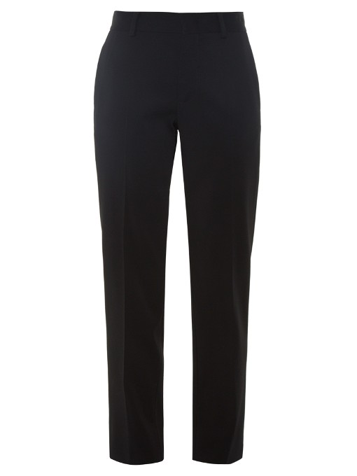 Christopher Kane Stud-embellished Crepe Trousers In Black