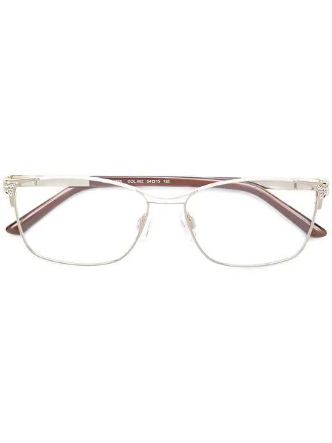 Cazal Rectangle Frame Glasses In Brown