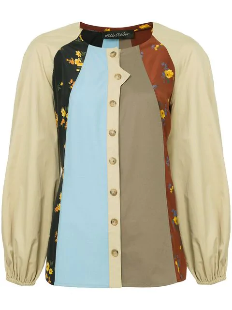 Anna October Patchwork Shirt In Multicolour