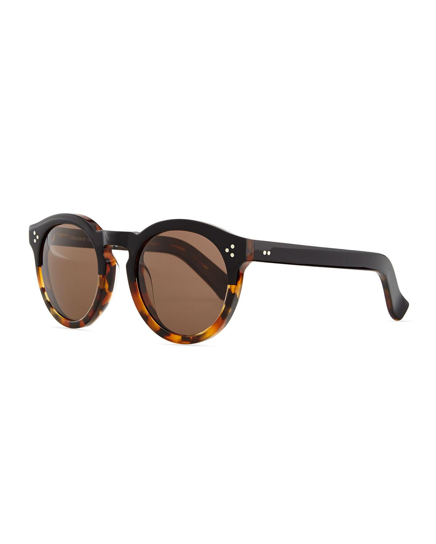 0b9703a1412 ILLESTEVA. Leonard Round Half   Half Sunglasses