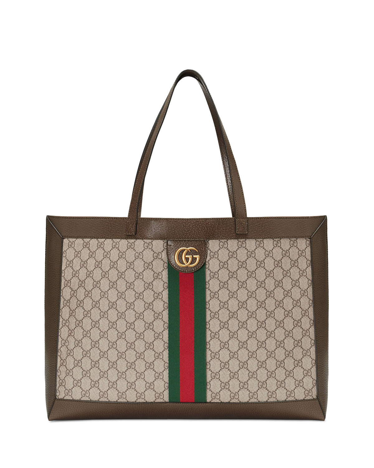 fe5ab018c22 Gucci Ophidia Soft Gg Supreme Canvas Tote Bag With Web In Beige Ebony  New  Acero