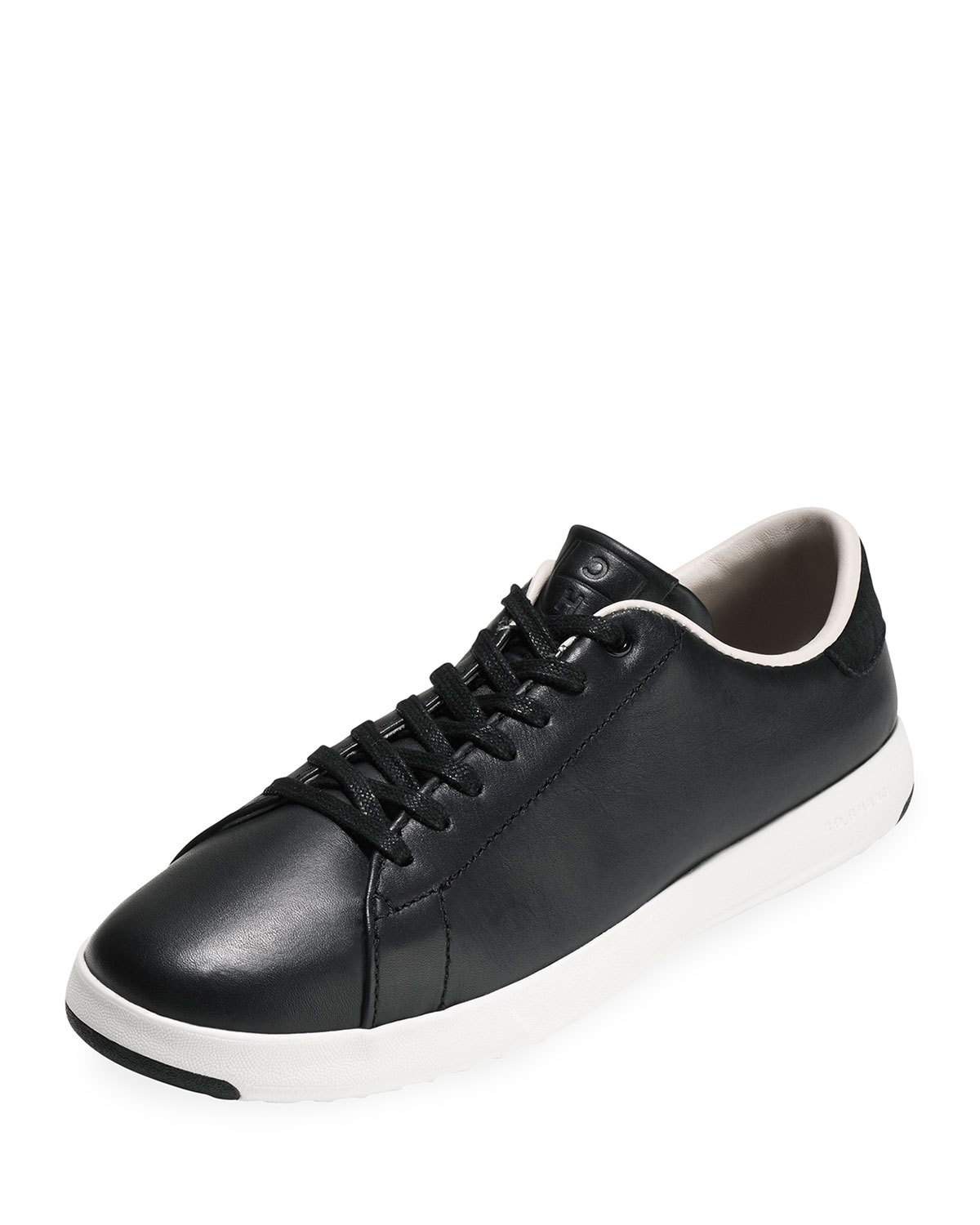b0e7b632746 Cole Haan Women s Grandsport Leather Lace Up Sneakers In Black Leather