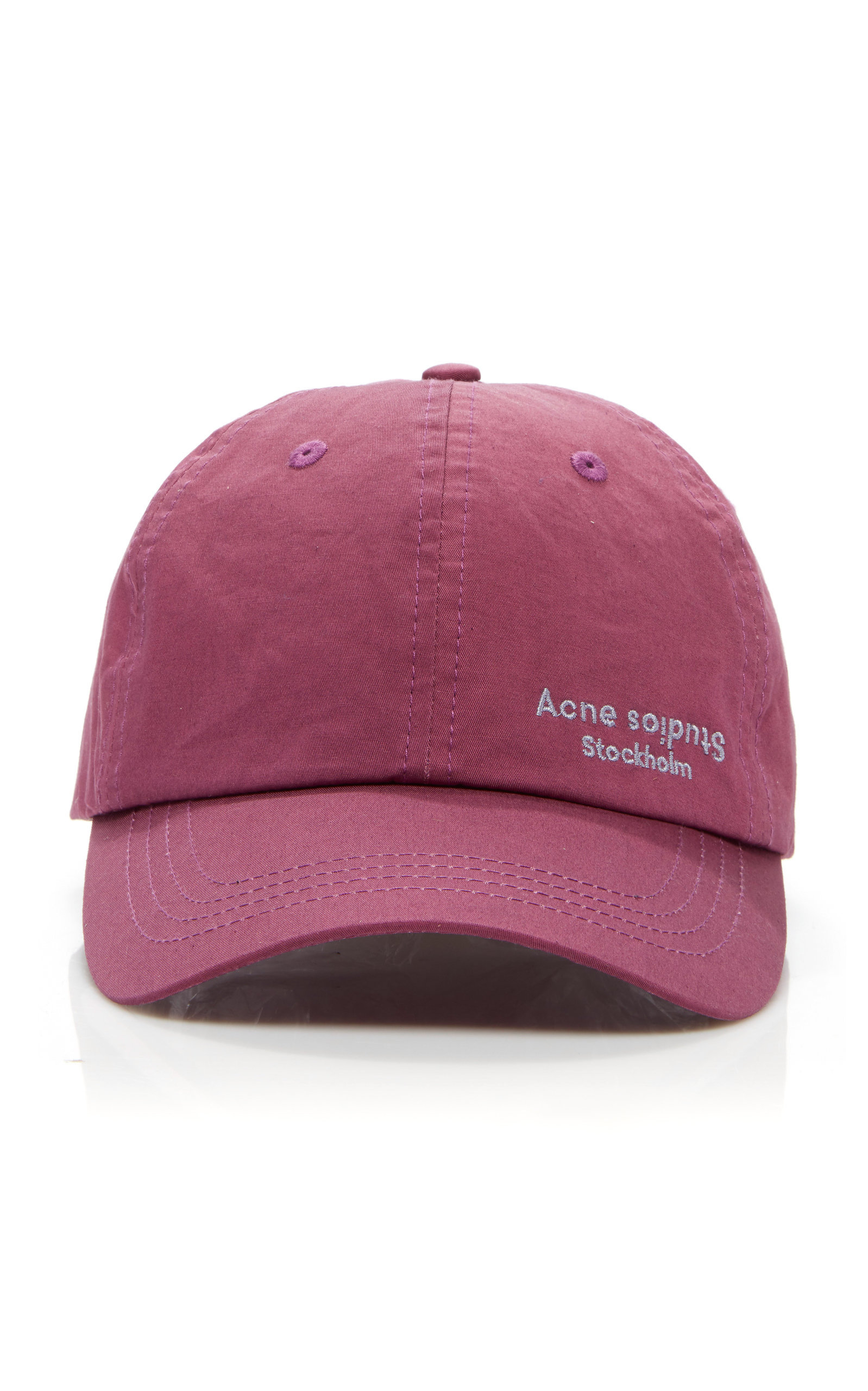 5b6b05f1af212 Acne Studios Carliy Logo-Embroidered Cotton-Canvas Baseball Cap - Plum -  One Siz