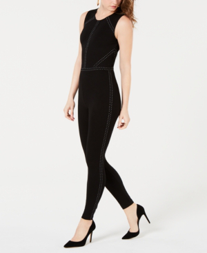 f1d26de0d74 Guess Adora Studded Sleeveless Jumpsuit In Jet Black