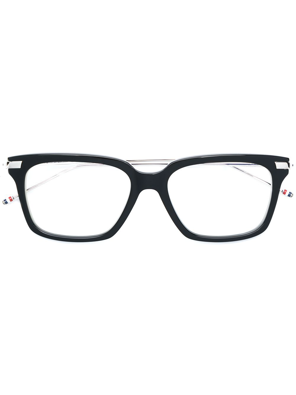 766c78241da Thom Browne Eyewear Rectangle Frame Glasses - Black