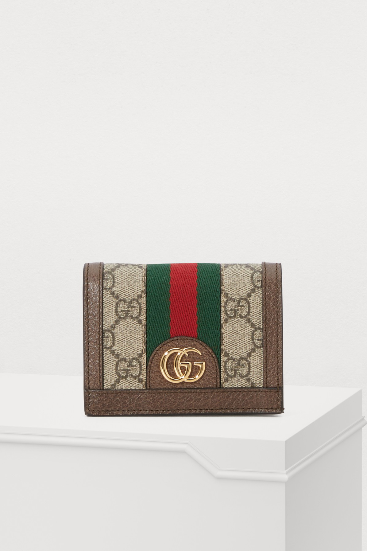 239b2393815590 Gucci Ophidia Gg Supreme Leather Wallet In Neutrals | ModeSens