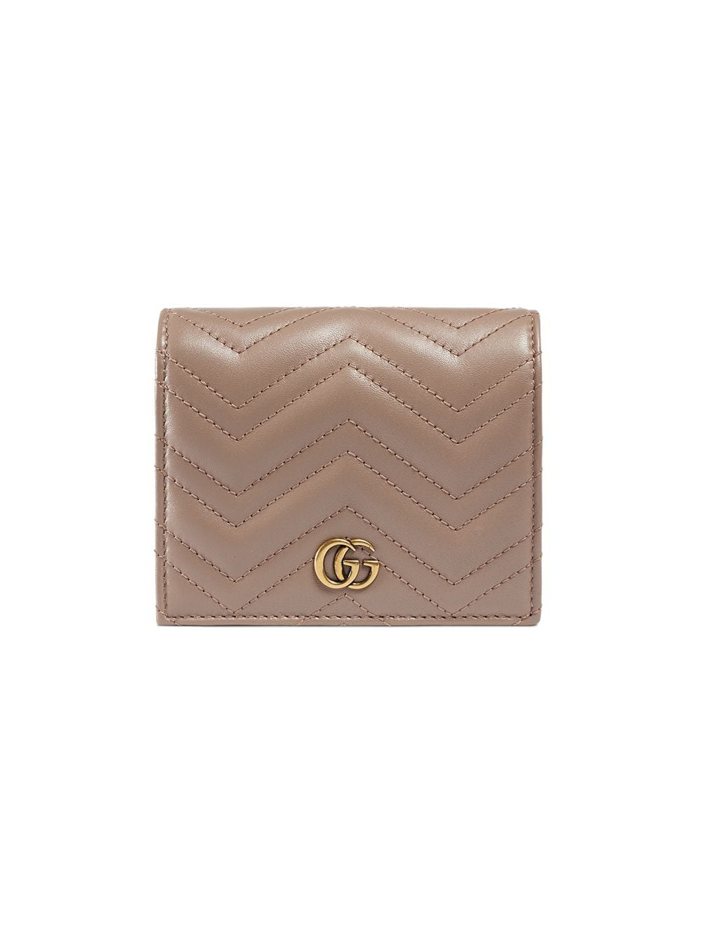 8d90ac18c107 Gucci Gg Marmont Leather Wallet In Neutrals | ModeSens