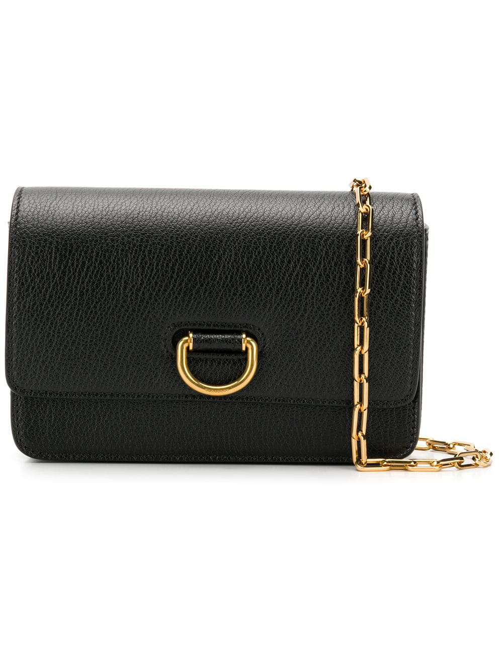 Burberry The Mini Leather D-ring Bag In Black