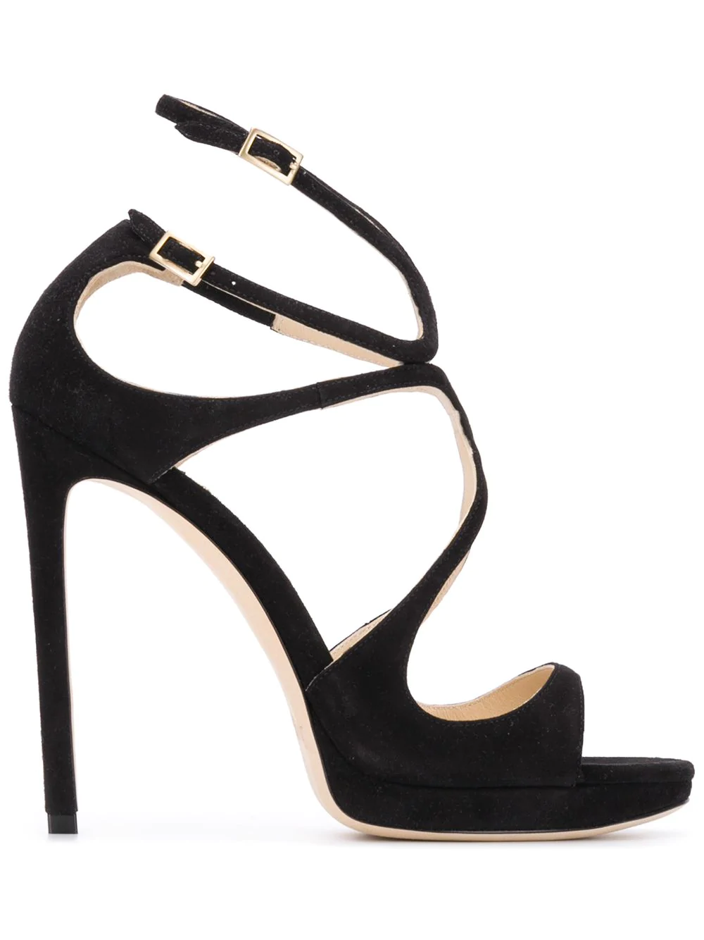 e69b6400d913 Jimmy Choo Lance 100 Suede Heeled Sandals In Black