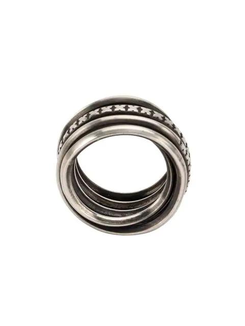 Werkstatt:münchen Ring Mit Prägung In Silver