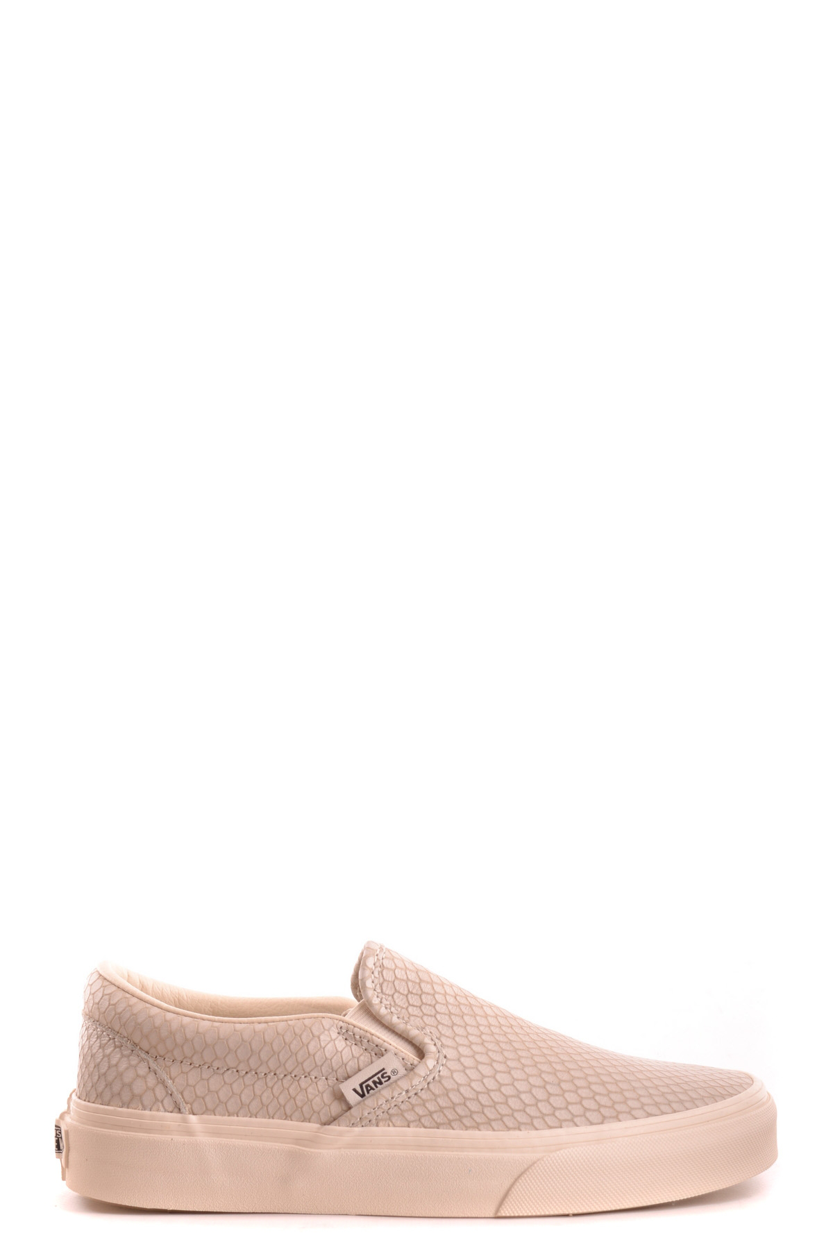 vans beige leather slip ons