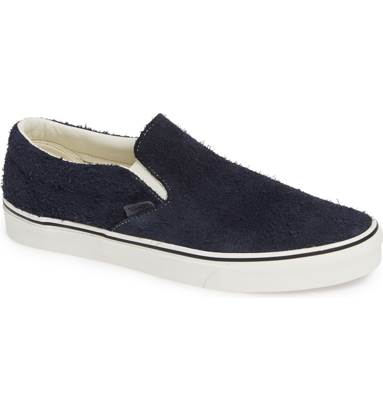 Vans Classic Hairy Suede Slip-On Sneaker In Sky Captain  Snow White ... f9e6d18a1
