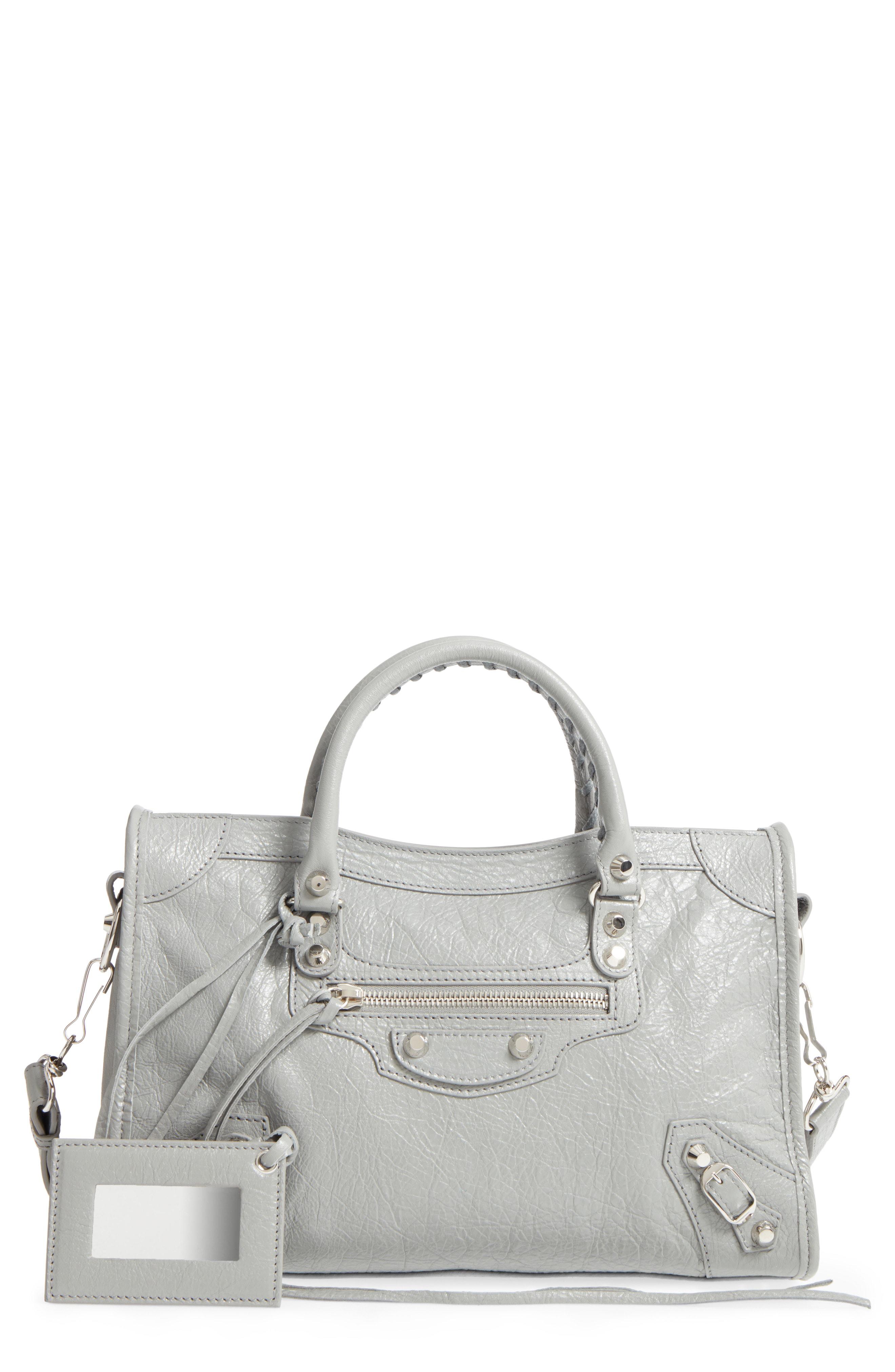 8840527a25d5e Balenciaga Small Classic City Leather Tote - Grey In Gris Haussman ...