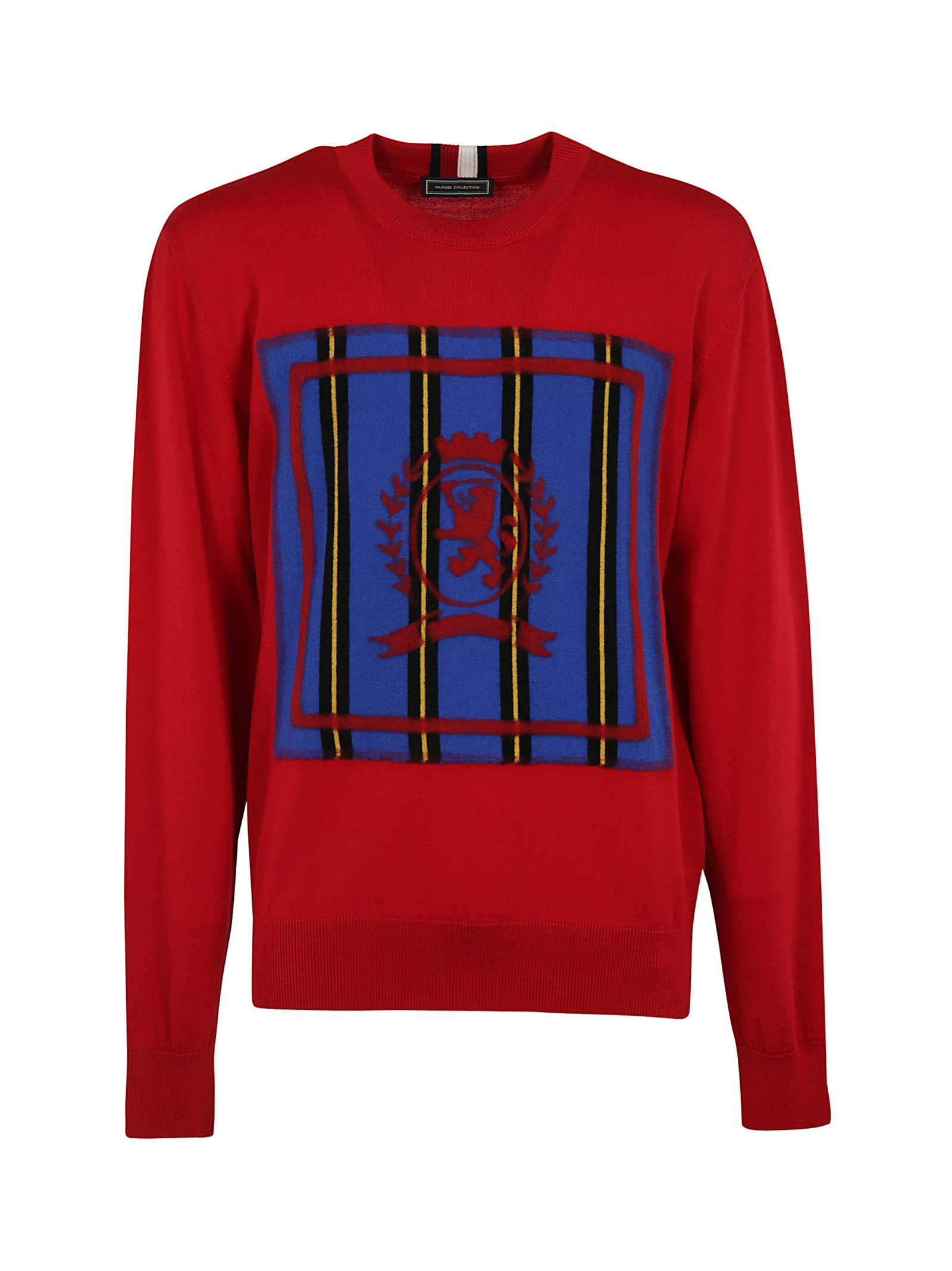 2bb142d3 Tommy Hilfiger Logo Color-Block Sweater In Red | ModeSens