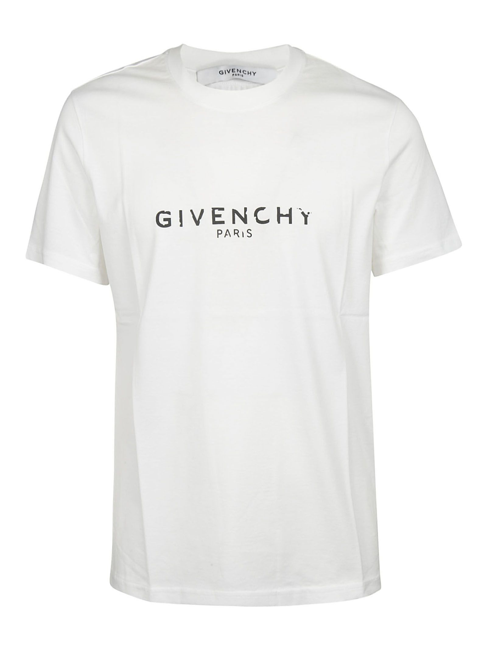 c0b75b78 Givenchy Men's Destroyed Logo Graphic T-Shirt In White | ModeSens