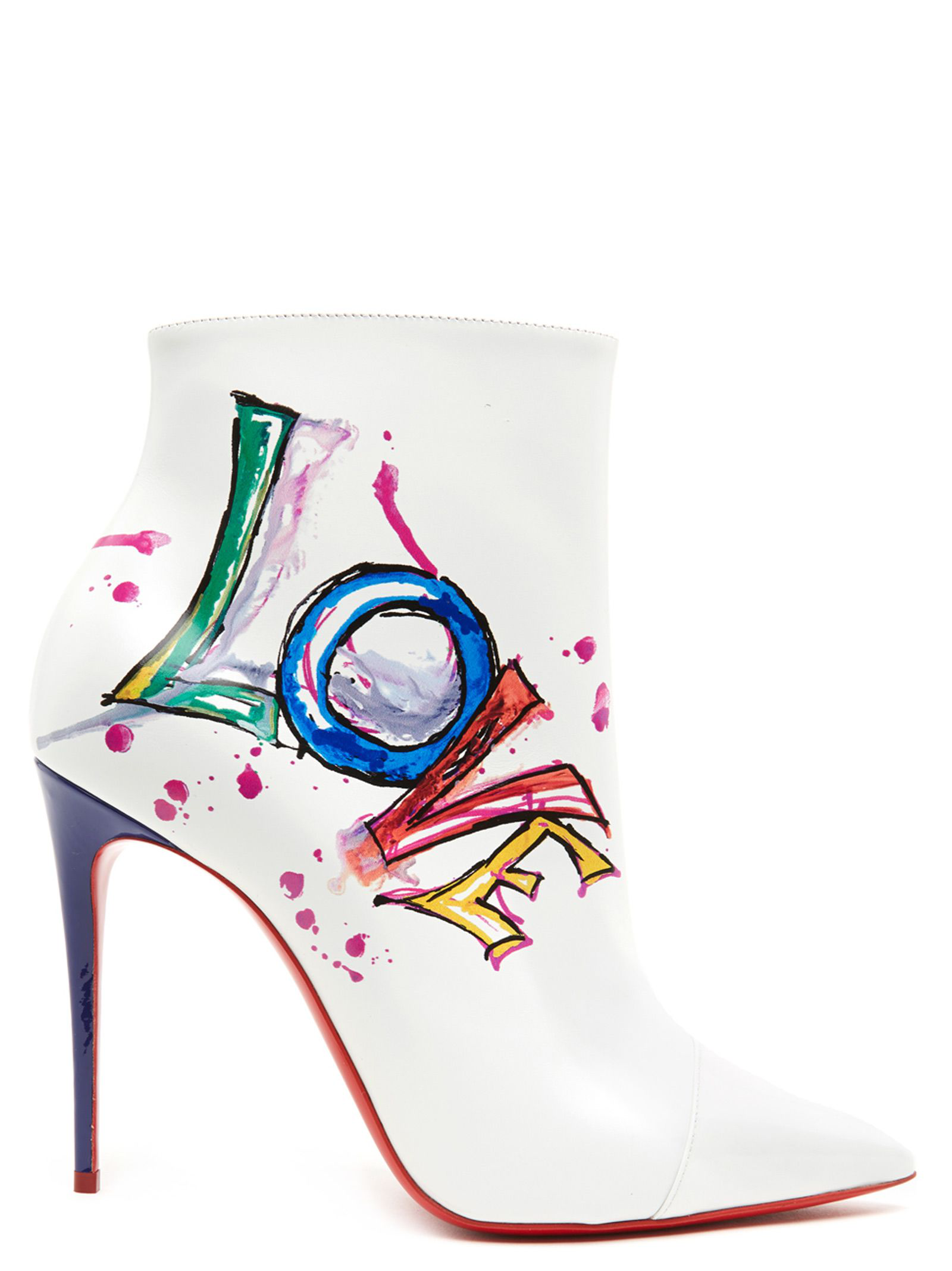 2bac15de7699 Christian Louboutin  Boot In Love  Shoes In White